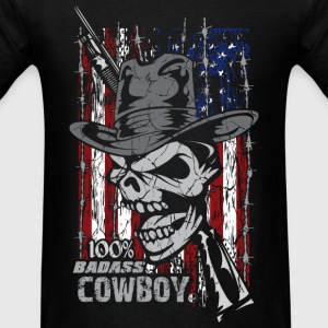 Badass Cowboy Long Sleeve Shirts - Men's T-Shirt