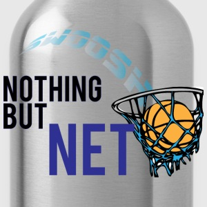 Nothing but net steel blue t shirt - Water Bottle