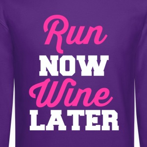 run-now-wine-later.png T-Shirts - Crewneck Sweatshirt
