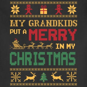 Grandkids - My grandkids put a merry in my xmas - Adjustable Apron