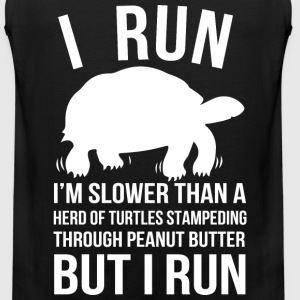 I run - I'm slower than a herd of turtles - Men's Premium Tank