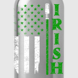 Irish jedi - Awesome flag t-shirt for Irish fans - Water Bottle