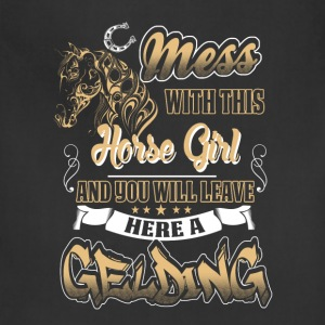 horse - mess with this horse girl - Adjustable Apron