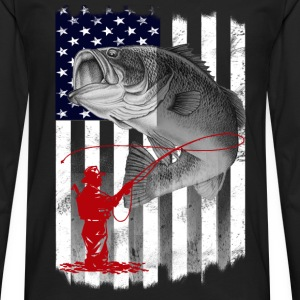 Fisher - Awesome t-shirt for American fishers - Men's Premium Long Sleeve T-Shirt