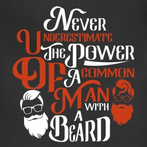 Beard - Power of a comman man with beard tee - Adjustable Apron