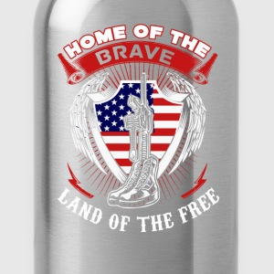 Captain America Home of the brave land of the free - Water Bottle