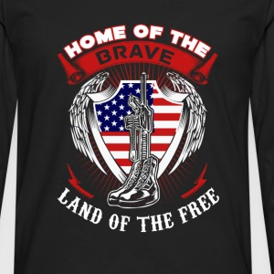 Captain America Home of the brave land of the free - Men's Premium Long Sleeve T-Shirt