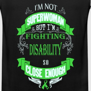 Disability - Fighting disability like superwoman - Men's Premium Tank