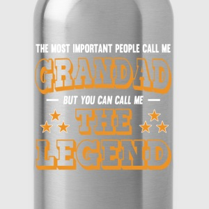Grandad - You can call me the legend t-shirt - Water Bottle