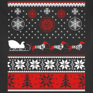 Dachshund - Christmas sweater for dog lovers tee - Adjustable Apron