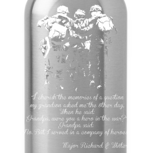Military - I served in a company of heroes - Water Bottle