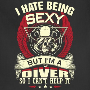 Diver - I'm a sexy diver freaking awesome t - shir - Adjustable Apron