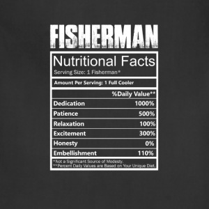Fisher - Nutritional facts of fisherman t-shirt - Adjustable Apron