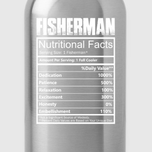 Fisher - Nutritional facts of fisherman t-shirt - Water Bottle