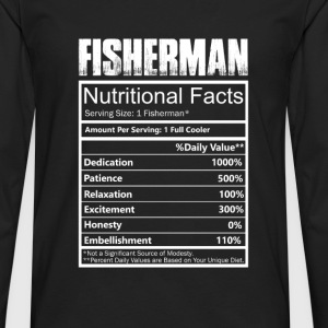 Fisher - Nutritional facts of fisherman t-shirt - Men's Premium Long Sleeve T-Shirt