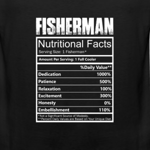 Fisher - Nutritional facts of fisherman t-shirt - Men's Premium Tank