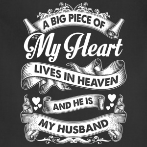 Husband - My husband is in heaven t-shirt - Adjustable Apron