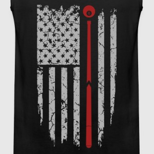 Pool - Awesome pool flag t-shirt for american - Men's Premium Tank