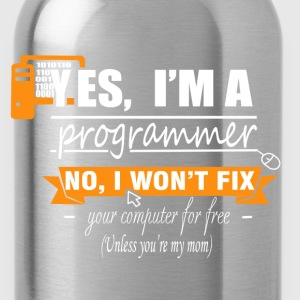 Programmer - I won't fix your computer for free - Water Bottle