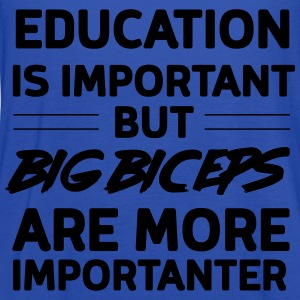 Education is important big biceps importanter T-Shirts - Women's Flowy Tank Top by Bella