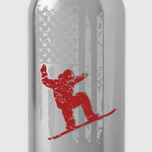 Skiing - Flag t-shirt for american skiing lovers - Water Bottle