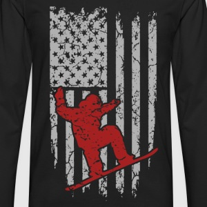 Skiing - Flag t-shirt for american skiing lovers - Men's Premium Long Sleeve T-Shirt