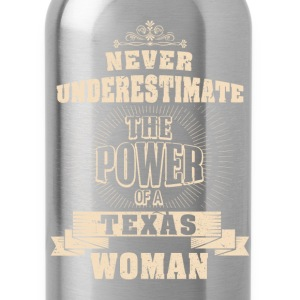 Texas woman - The power of a texas woman t-shirt - Water Bottle