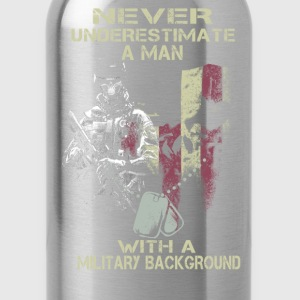 Military - A man with a military background tee - Water Bottle