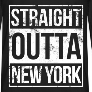 New York - Straight outta New York awesome t - shi - Men's Premium Long Sleeve T-Shirt