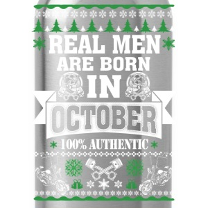 October - Real men are born in October t-shirt - Water Bottle