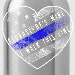 Police Officer - Thin blue line - Water Bottle