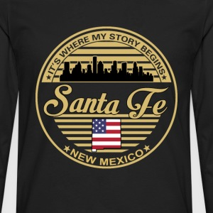 Santa Fe - New mexico It's where my story begins - Men's Premium Long Sleeve T-Shirt