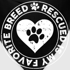 Rescue Dog is my favorite breed t-shirt - Bandana