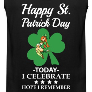 St.Patrick day - To day I celebrate awesome tee - Men's Premium Tank
