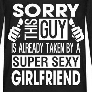 Valentines DAY - this guy is taken by a sexy girl - Men's Premium Long Sleeve T-Shirt
