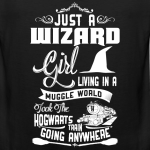 Wizard girl - Wizard girl living in muggle world - Men's Premium Tank
