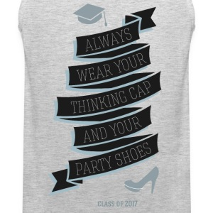 Thinking hat and party shoes T-Shirts - Men's Premium Tank