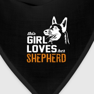 This girl loves her shepherd - Bandana
