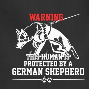 Warning - This human is protected... - Adjustable Apron