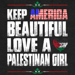 Keep America Beautiful Love A Palestinian Girl T-Shirts - Sweatshirt Cinch Bag