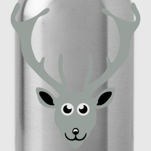 deer drawing animals 411 T-Shirts - Water Bottle