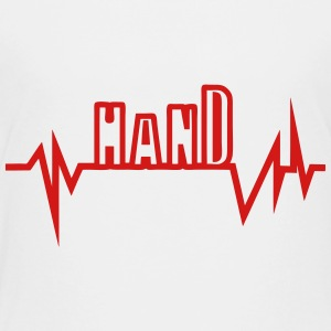 handball route curve word heart beat Kids' Shirts - Toddler Premium T-Shirt