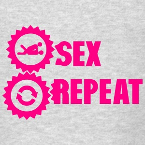 repeat sex love icon Hoodies - Men's T-Shirt