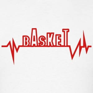 basketball traced curve word heart beat Hoodies - Men's T-Shirt