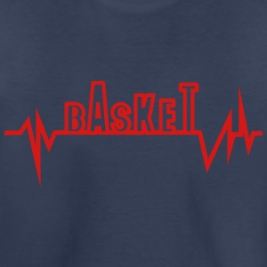 basketball traced curve word heart beat Kids' Shirts - Toddler Premium T-Shirt