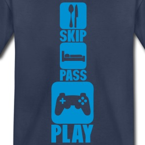 geek skip pass play games controller 3 Kids' Shirts - Toddler Premium T-Shirt