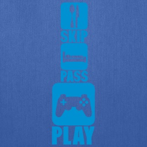 geek skip pass play games controller 3 Kids' Shirts - Tote Bag
