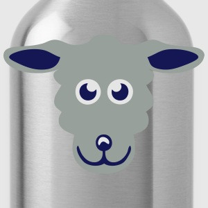 sheep drawing animals 411 T-Shirts - Water Bottle