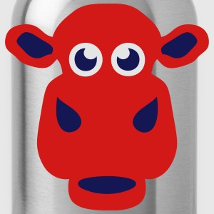 cow drawing animals 411 T-Shirts - Water Bottle