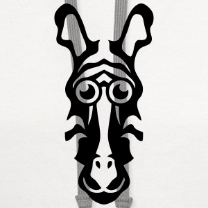 zebra drawing animals 411 T-Shirts - Contrast Hoodie